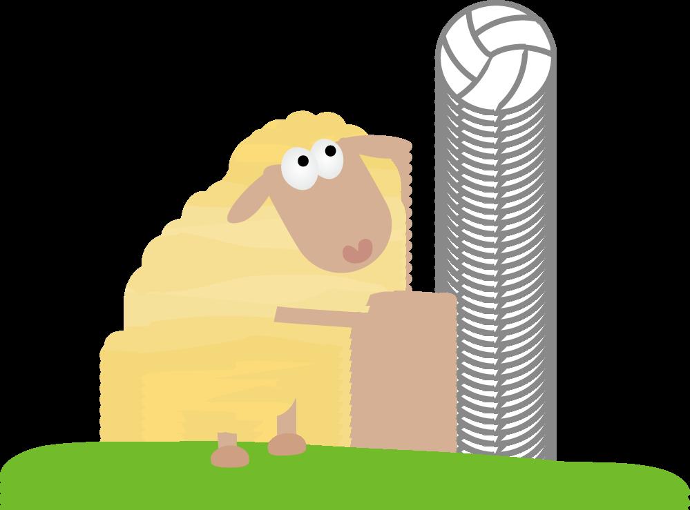 ... イラスト無料素材/スポーツ羊