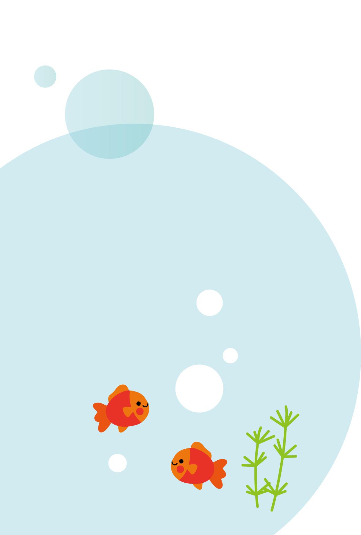 暑中見舞い無料素材/夏イラストはがき/かわいい金魚
