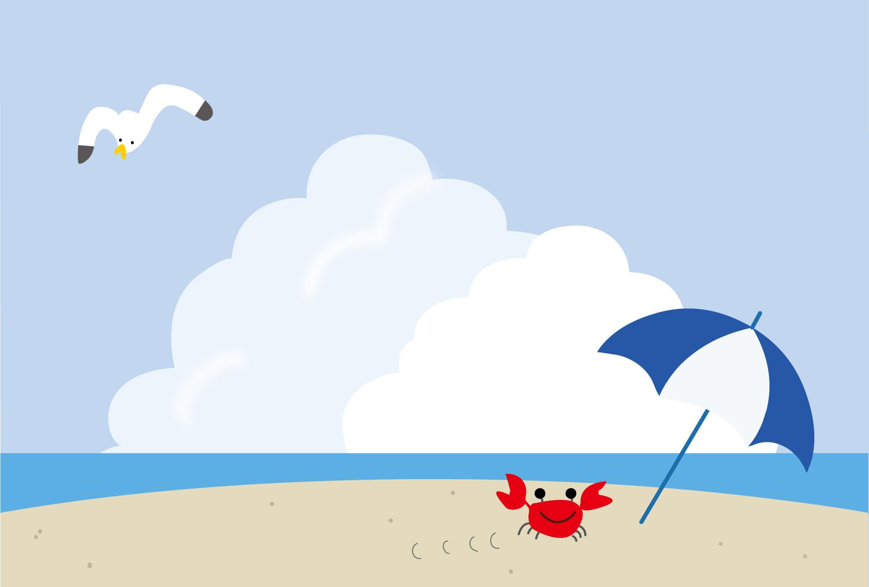 海 イラスト かわいい 無料