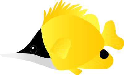 海水魚のイラスト/夏イラスト/無料暑中見舞い素材/無料ダウンロード